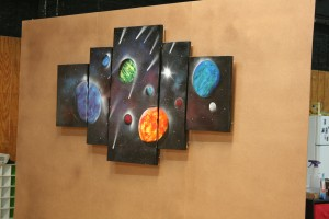 Space mural custom made for our facility.