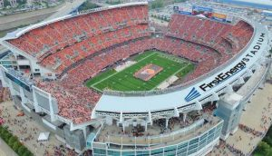 First Energy Stadium, the home of the Cleveland Browns. The Browns are the only team named after a dog, specifically, a bull mastiff. Photo taken from cleveland.com