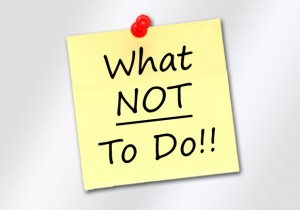 vet questions not-to-do list