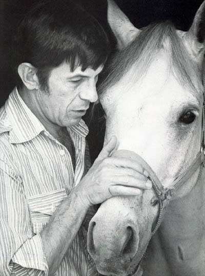 Nimoy with horse