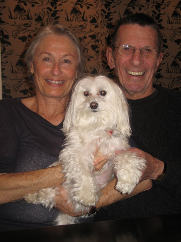 nimoy with wife and dog