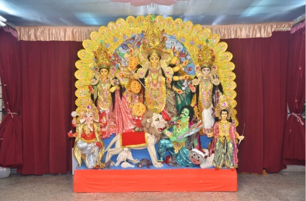 Durga family with vahanas