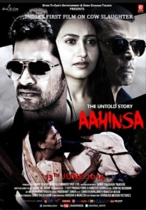 Movie poster in India pertaining to the countries first film on the slaughter of cows.